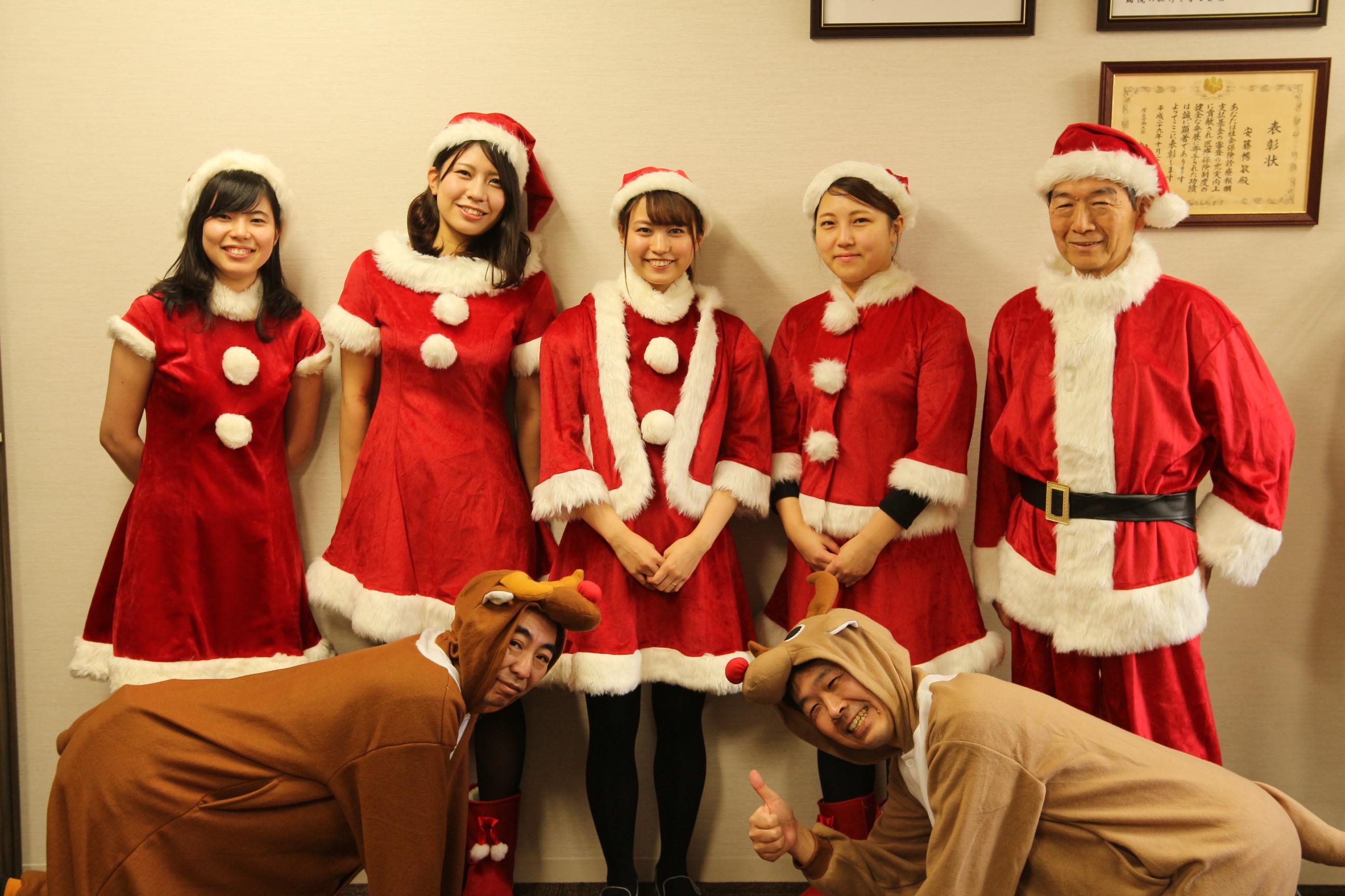 患者慰問のクリスマスイベント。