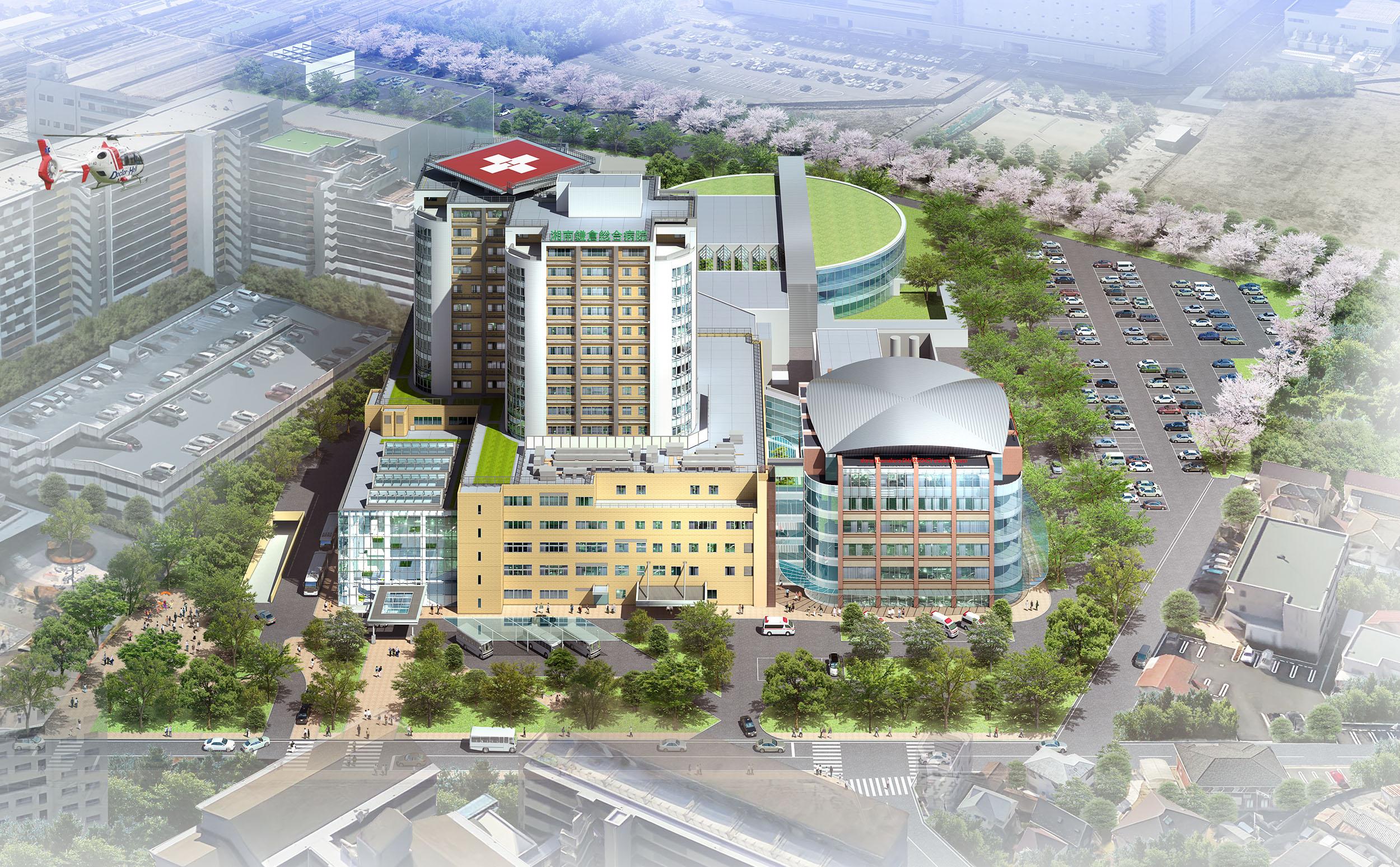 2021年に増築し救急・外傷センター棟と研究センター棟を併設予定です。